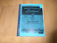G.M.C. 2.5ton,6x6 truck.CCKW.352 and 353.Maintenance manual.